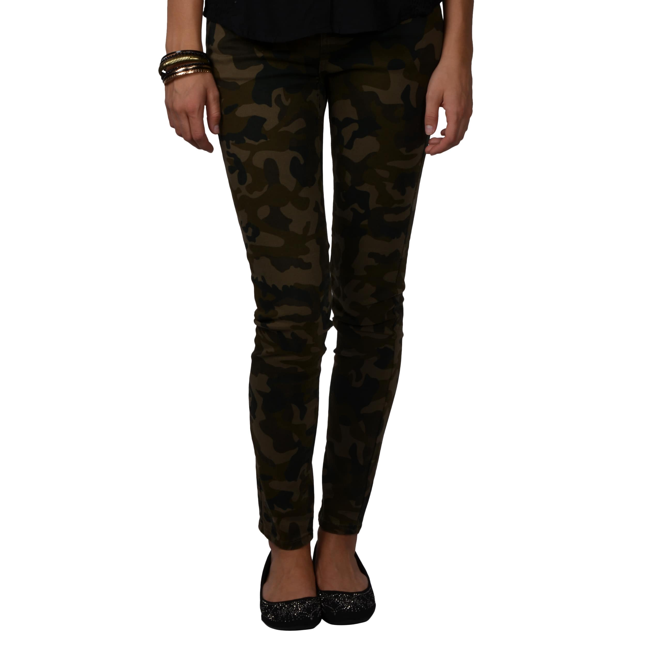 Journee Collection Juniors Camo Print Stretchy Skinny Pants
