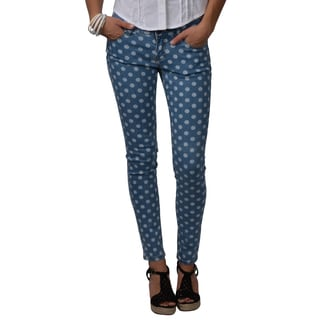 Journee Collection Juniors Polka-dot Print Stretchy Skinny Pants