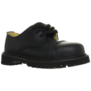 Demonia Men's 'Rocky-03' Black Leather Lace-up Oxford Shoes