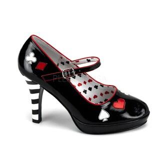 Funtasma Women's 'Contessa-57' Black Queen of Hearts Heels