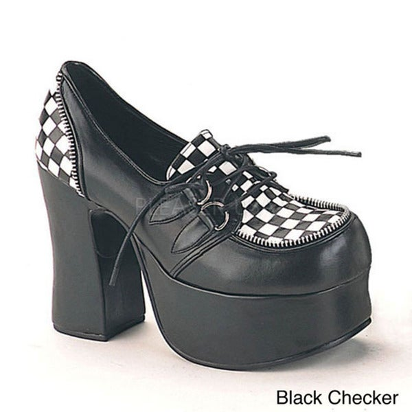 Demonia 'CHARADE-12' Women's D-ring Lace-up Mary Jane Shoes