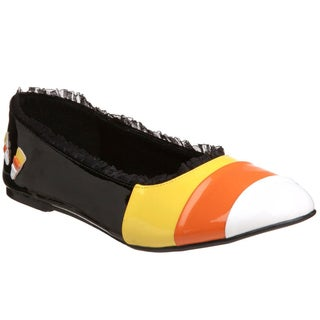 Funtasma Women's 'Candykorn-12' Candy Corn Striped Flats