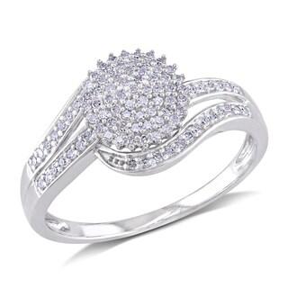 Miadora 10k White Gold 1/3ct TDW Round-cut Diamond Ring (H-I, I2-I3)