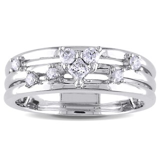Miadora 14k White Gold 1/4ct TDW Diamond Ring (H-I, I1-I2)