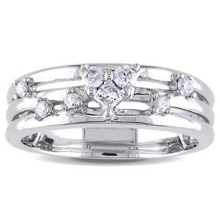 Miadora 14k White Gold 1/4ct TDW Diamond Ring (H-I, I1-I2)