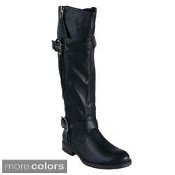 Blossom 'PITA-18' Women's Side Zipper Knee-high Boots