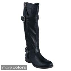 Blossom 'PITA-18' Women's Side Zipper Knee-high Boots