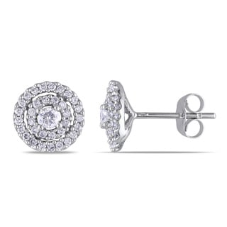 Miadora 14k White Gold 1/2ct TDW Diamond Earrings (G-H, I1)