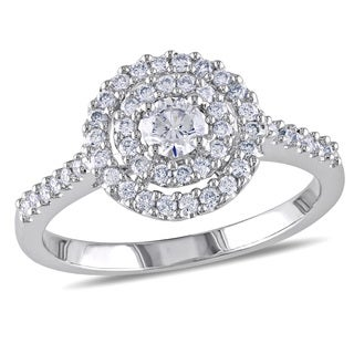 Miadora 14k White Gold 1/2ct TDW Certified Diamond Ring (G-H, I1-I2) (IGL)