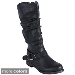 Blossom Women's 'Cana-11' Slouchy Knee-high Boots
