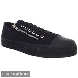 Demonia Men's 'Deviant-06' Black Zipper Low-top Sneakers