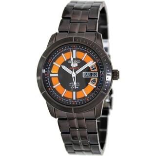 Seiko Men's Black Stainless Steel Watch