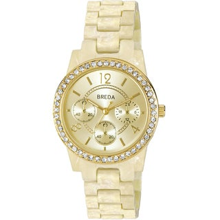 Breda Women's 'Vanessa' Goldtone Dial Watch