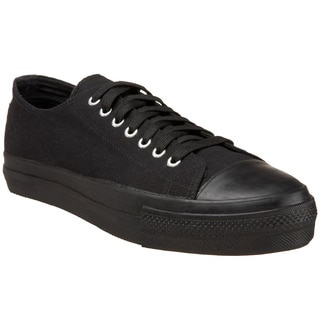 Demonia Men's 'Deviant-01' Black Canvas Low-top Sneakers