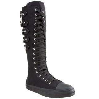 Demonia Men's 'Deviant-310' Black Knee-high Lace-up Sneakers