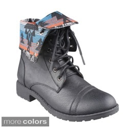 Refresh 'TERRA-11' Women's Lace-up Combat Boots