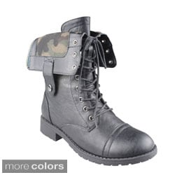Refresh 'TERRA-12' Women's Lace-up Mid-calf Combat Boots