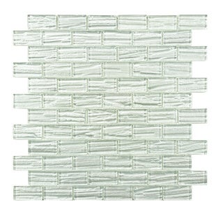 SomerTile 'Arbor Subway White' 12.25x12.25-inch Glass Mosaic Tiles (Pack of 10)