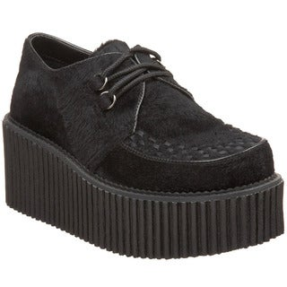 Demonia Women's 'Creeper-202' Black Platform Oxfords