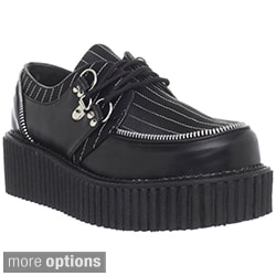 Demonia Women's 'Creeper-113' Black Printed Creeper Shoes