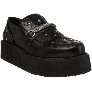 Demonia Men's 'V-Creeper-509' Topstitched Riveted Creeper Shoes