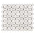 SomerTile 'Manhattan Hex Antique White' 10.25x12-inch Unglazed Porcelain Mosaic Tiles (Pack of 10)