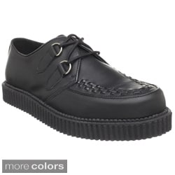Demonia Unisex 'Creeper-602' Leather Rockabilly Lace-up Shoes