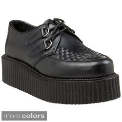 Demonia Unisex 'Creeper-402' Leather Rockability Oxford Shoes