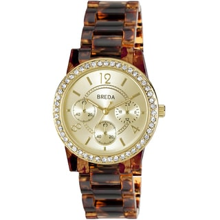 Breda Women's 'Vanessa' Tortoise Shell Band Watch