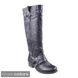 Refresh 'FINLY-01' Women's Kneehigh Side Zip Boots