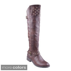 Refresh 'ELGA-04' Women's Over-the-knee Riding Boots