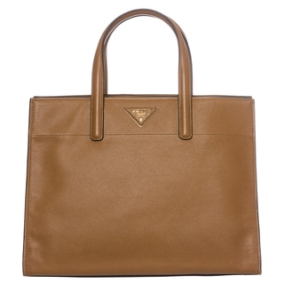 Prada Caramel Saffiano Leather Soft Tote