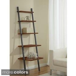 22-inch Tiered 5-shelf Ladder Bookcase