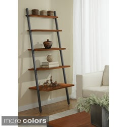 30-inch Tiered 5-shelf Ladder Bookcase