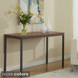 Contemporary Wood-top Console Table