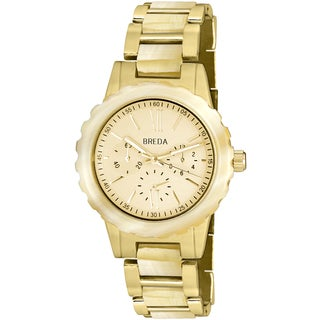 Breda Women's 'Nora' Horn Accent Goldtone Watch