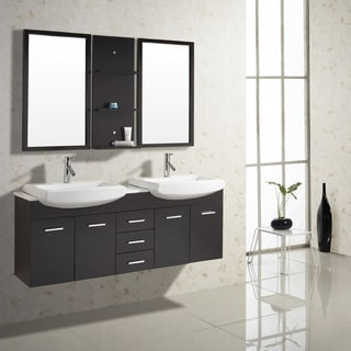 Virtu USA Ophelia 59-inch Single Sink Bathroom Vanity Set
