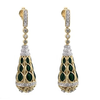 Beverly Hills Charm 14k Yellow Gold 1ct TDW Diamond Earrings (H-I, I2-I3)