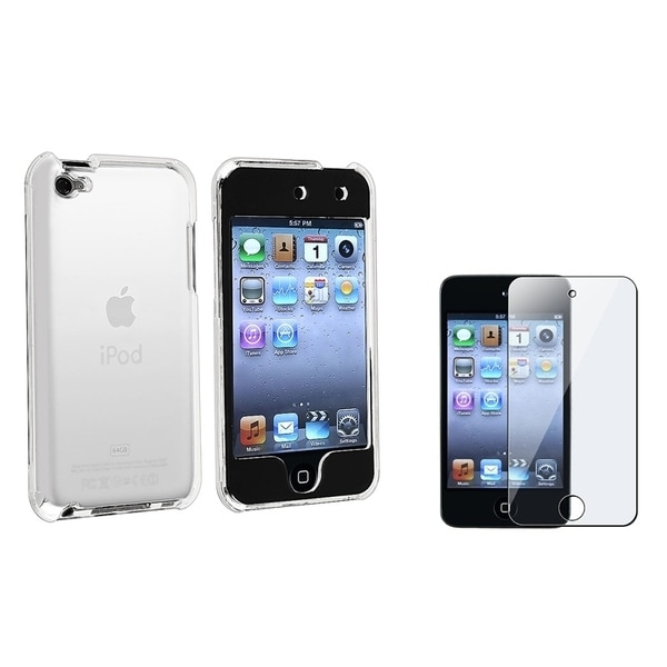 INSTEN Clear Screen Protector/ Clear Crysta iPod Case Cover for Apple iPod touch 4