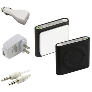 INSTEN Cable/ Charger Adapter/ Soft Silicone iPod Case Cover for Apple iPod shuffle 4