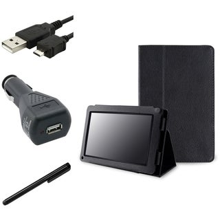 INSTEN Leather Phone Case Cover/ Charger/ Cable/ Stylus for Amazon Kindle Fire