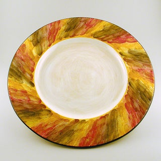Tortoise Shell Round Serving Platter
