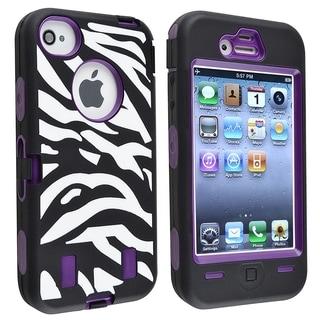 BasAcc Purple Hard/ Zebra Skin Hybrid Case for Apple� iPhone 4/ 4S