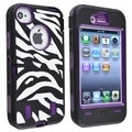 BasAcc Purple Hard/ Zebra Skin Hybrid Case for Apple� iPhone 4/ 4S