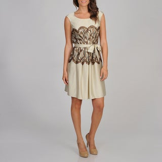 Cece's New York Women's Mirror Print Party Dress