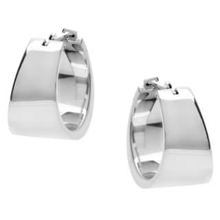 Calvin Klein Stainless Steel Wide Hoop Earrings