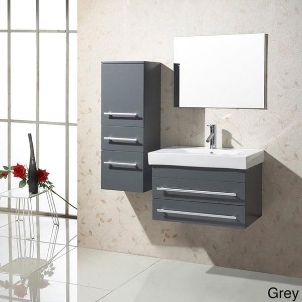 virtu usa antonio 28 inch single sink bathroom vanity set