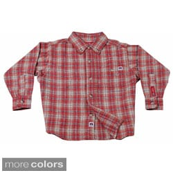 Farmall IH Junior Boys Plaid Flannel Shirt