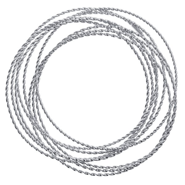 Stainless Steel 9-in-1 Multi-layer Twist Bangle Bracelet