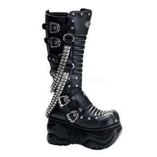 Demonia 'BOXER-206' Women's Black Knee Boots